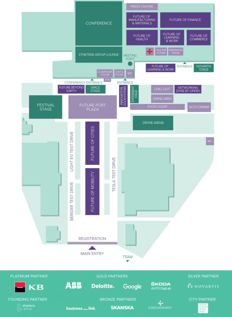 Future Port Prague 2019 venue map